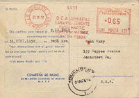 QSL Radio Bukarest 2.09.1952
