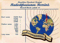 QSL Radio Bukarest 1955