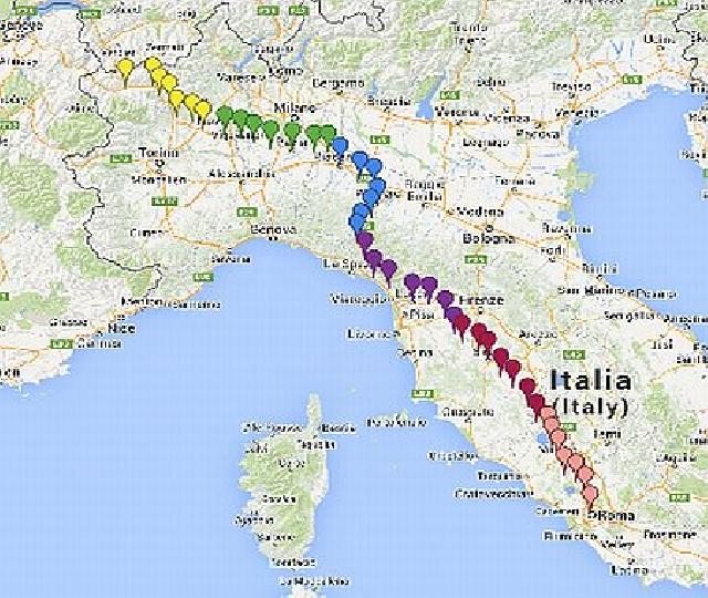 francigena 2014: l'europa a piedi verso roma