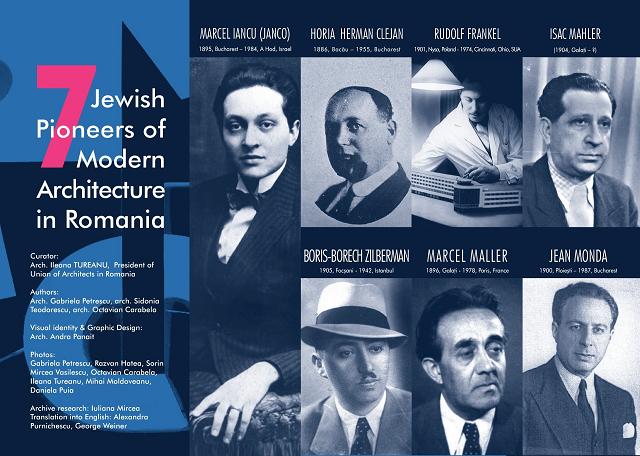"""תערוכה """"7 חלוצים יהודים לאדריכלות מודרנית ברומניה"""""""