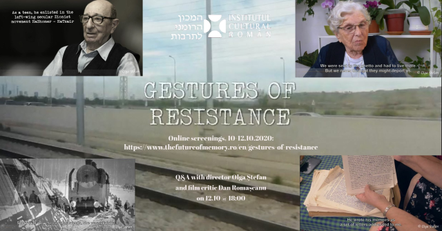 מכון התרבות הרומני בתל אביב ארגן הקרנה מקוונות לסרט התיעודי מחוות התנגדות