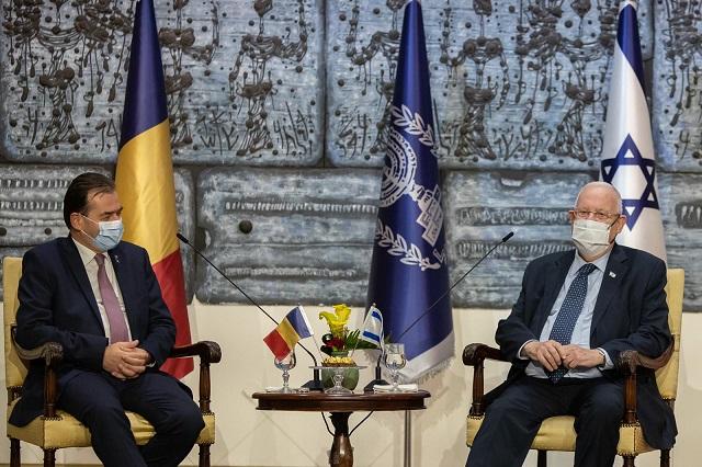 ביקורו הרשמי של ראש ממשלת רומניה בישראל ובשטחים הפלסטיניים