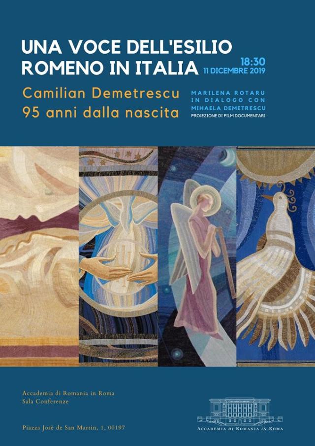 serata omaggio all'artista camilian demetrescu all'accademia di romania in roma