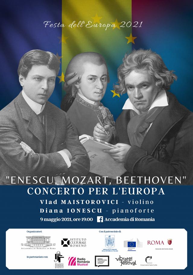 enescu, mozart, beethoven. concerto per l'europa all'accademia di romania in roma