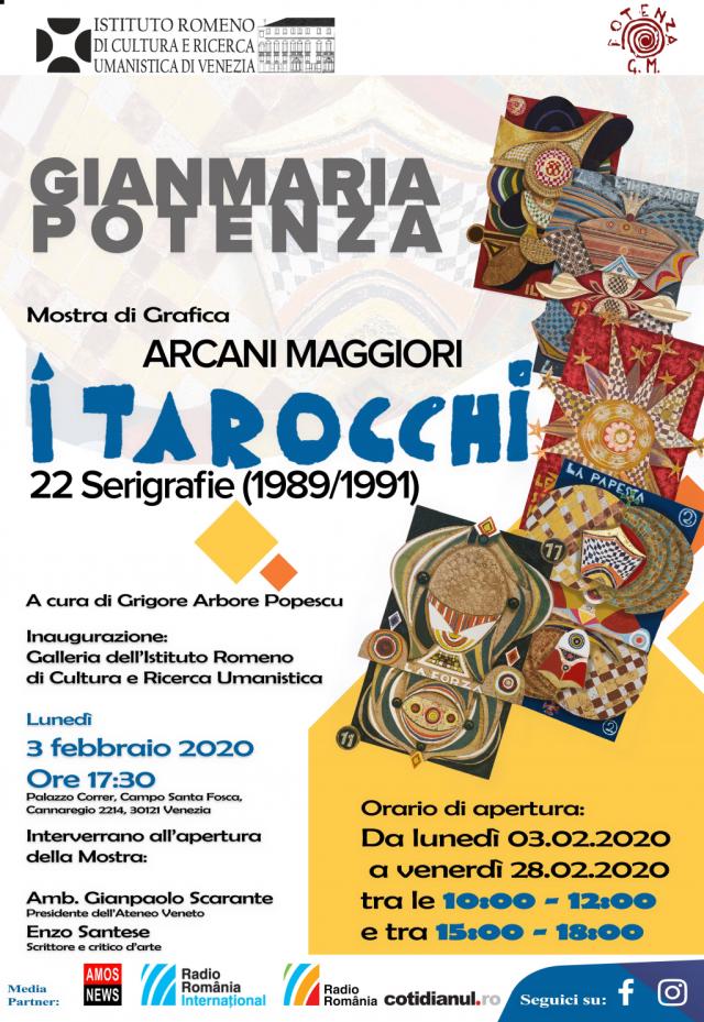 tarocchi di gianmaria potenza, in mostra all'istituto romeno di cultura di venezia