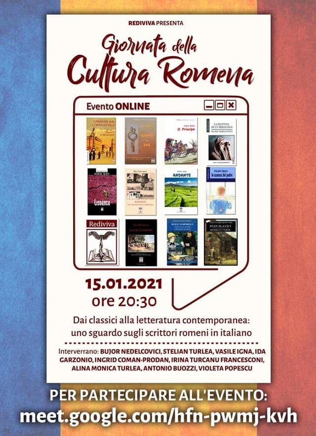 giornata cultura 2021: milano, incontro virtuale con scrittori romeni in italiano