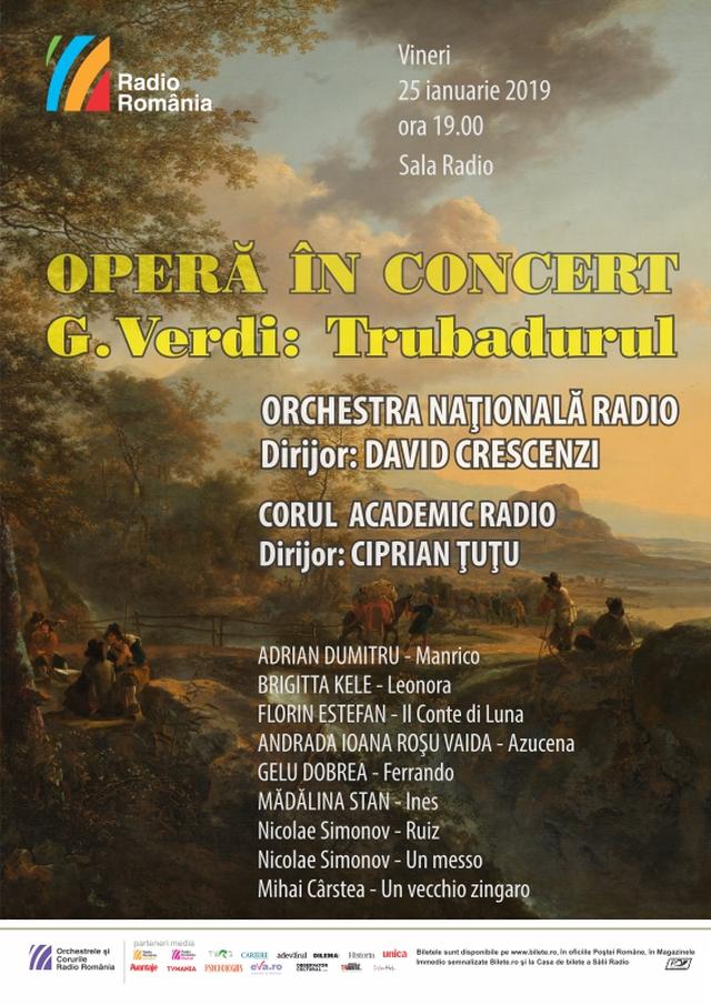 il trovatore di giuseppe verdi, opera in concerto a radio romania