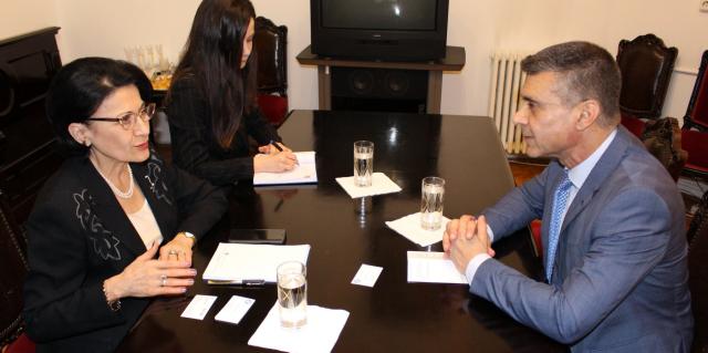 מפגש בין שרת החינוך לשגריר ישראל ברומניה