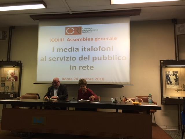 media italofoni al servizio del pubblico in rete: le conclusioni dell'assemblea generale
