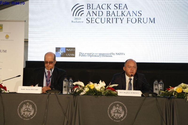 2021年9月7日:罗马尼亚外交部长参加黑海和巴尔干安全论坛