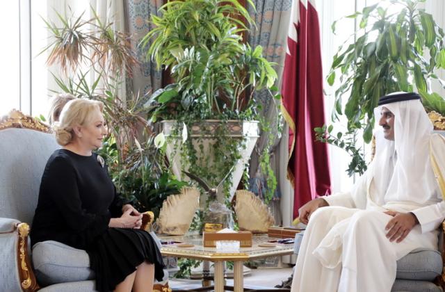 اجتماع رئيسة الوزراء الرومانية مع أمير دولة قطر