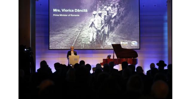 ראשת הממשלה הרומנית הנציחה בבריסל את ניצולי השואה