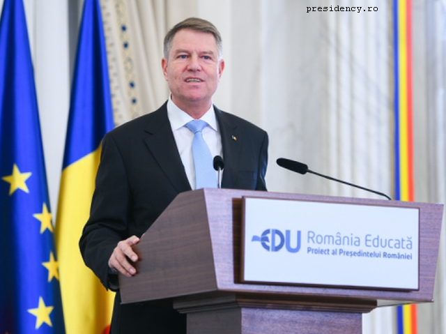 educated romania, a strategic project initiated by the presidency