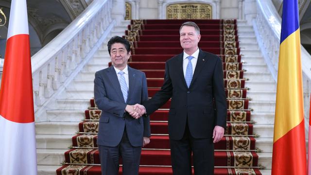 2018年1月21日:日本首相对罗正式访问