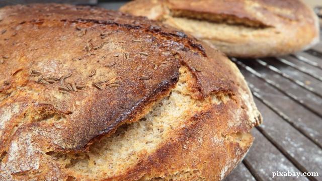 Хлеб и другие блюда в форме