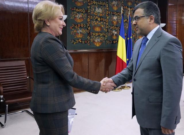 استقبال سفير الكويت من قبل رئيسة الوزراء الرومانية