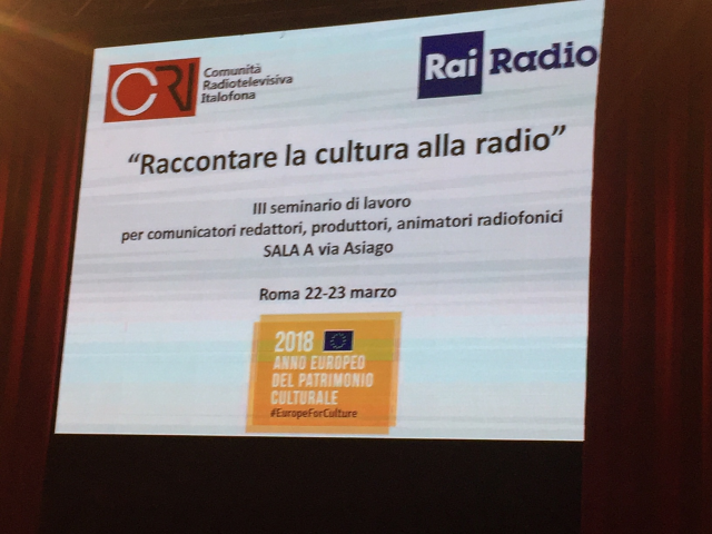 raccontare la cultura alla radio, seminario a roma