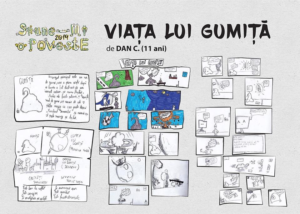 erzaehl-mir-eine-geschichte-comics-von-kindern-vor-dem-kunstmuseum-ausgestellt