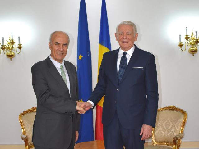 اجتماع وزير الخارجية الروماني مع سفير الأردن لدى بوخارست