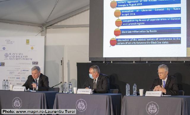Міністри оборони Румунії та України взяли участь у Чорноморсько-Балканському безпековому форумі-2020