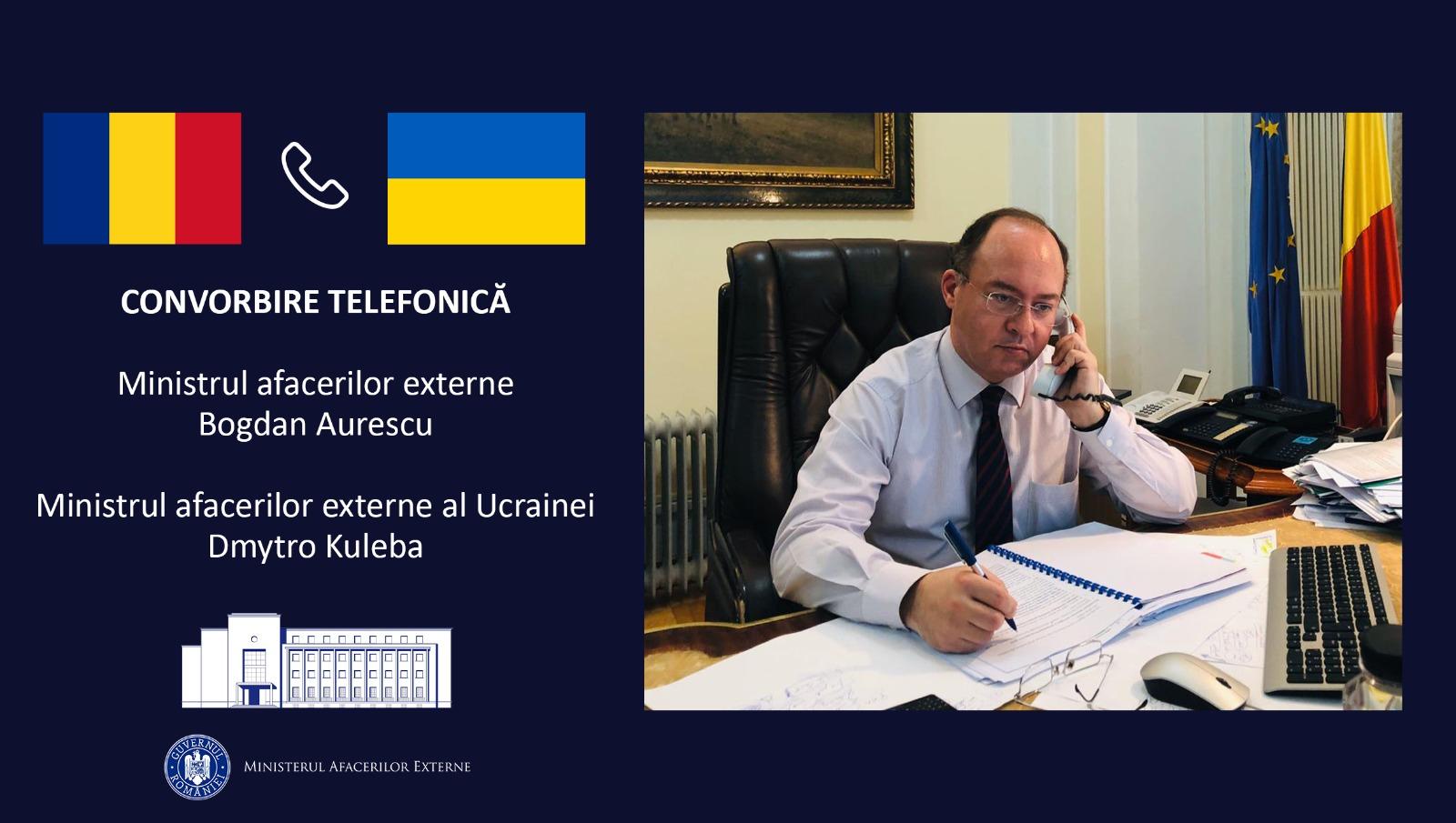 Глава МЗС Румунії провів телефонну розмову зі своїм українським колегою